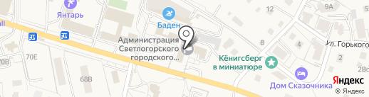 Авеню-Риэлт на карте Светлогорска