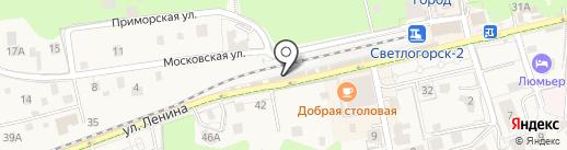 Пари-тур на карте Светлогорска