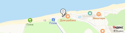 Дом рыбака на карте Светлогорска