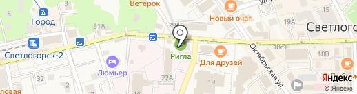 Магазин игрушек на ул. Ленина на карте Светлогорска