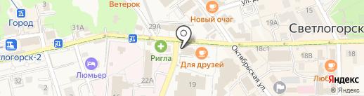 Банкомат, Банк ВТБ 24, ПАО на карте Светлогорска