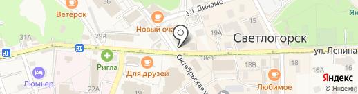 Поляндия на карте Светлогорска