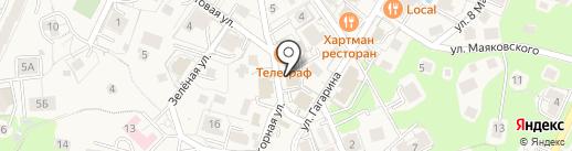 Магазин книг и канцтоваров на карте Светлогорска