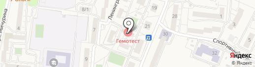 Магазин бытовой химии на карте Светлогорска