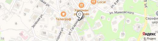 Магазин одежды и обуви на ул. Гагарина на карте Светлогорска
