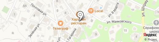 Планета Янтаря на карте Светлогорска