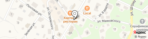 Русский янтарь на карте Светлогорска