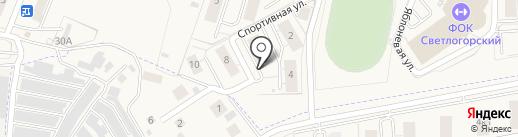 Светлогорск-Юг на карте Светлогорска
