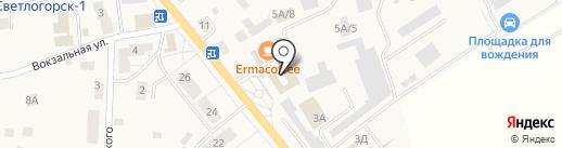 Магазин мясопродуктов на Калининградском проспекте на карте Светлогорска