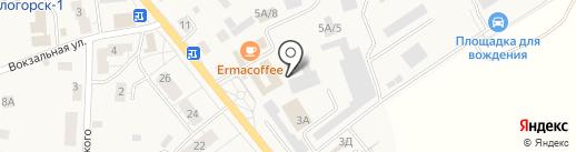 Магазин сантехники на карте Светлогорска