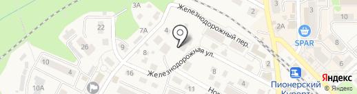 Церковная лавка на Железнодорожной на карте Пионерского