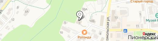 Круиз на карте Пионерского