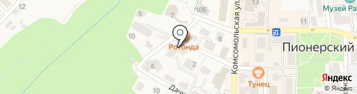Стомик на карте Пионерского
