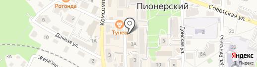КМ групп на карте Пионерского