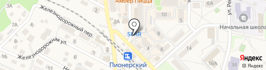 Магазин цветов на Садовой на карте Пионерского