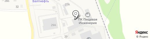 Копчёнов на карте Пионерского