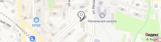 Баня, МУП на карте Пионерского