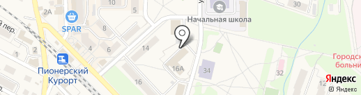 Теплосервис, МУП на карте Пионерского