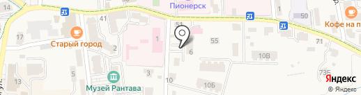 С иголочки на карте Пионерского