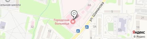 Пионерская центральная городская больница на карте Пионерского