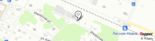 Магазин автомасел на карте Калининграда