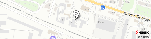 Авангард, ГК на карте Калининграда