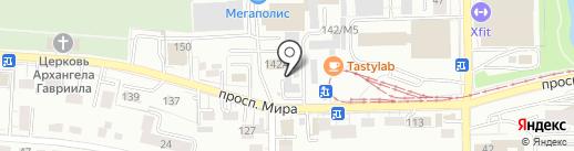 Салфир на карте Калининграда