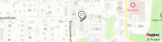 ЕЖЕВИКА на карте Калининграда