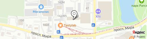 Караван на карте Калининграда