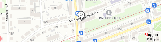 Кристалл на карте Калининграда