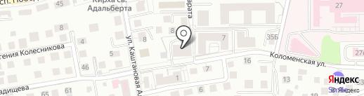 Амалия на карте Калининграда