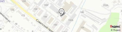 Автоком на карте Калининграда