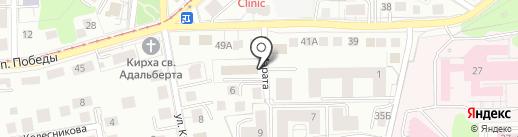 Вестпласт-Калининград плюс на карте Калининграда