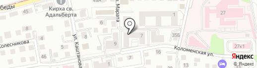 Амалиенберг 1 Инвент на карте Калининграда
