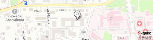 Ваш Эвакуатор на карте Калининграда