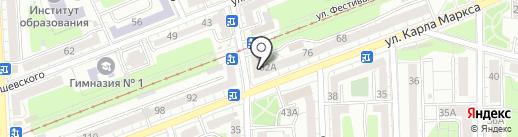 Пряжа-тиффи на карте Калининграда