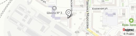 Октябрьская площадь на карте Калининграда