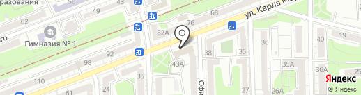 Центр охраны памятников, МКУ на карте Калининграда