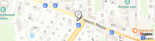 Джей Си Хаус на карте Калининграда
