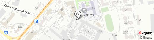 Сити Джинс на карте Калининграда
