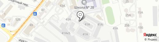 Сириус на карте Калининграда