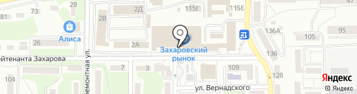 Гурьевские колбасы на карте Калининграда
