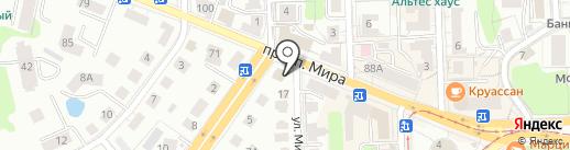 Европейский дом на карте Калининграда