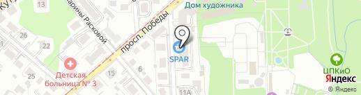 Ладдария на карте Калининграда