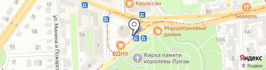 Киоск по продаже проездных билетов на карте Калининграда