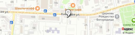 Экономъ на карте Калининграда