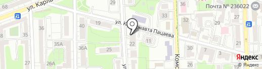 Национальное сообщество строителей, НП на карте Калининграда