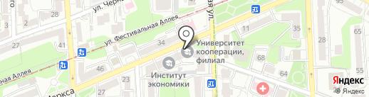 Барбарис на карте Калининграда