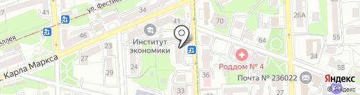 Балтптицепром на карте Калининграда