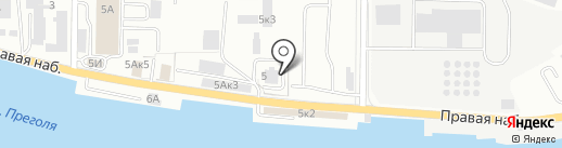Одеялко на карте Калининграда
